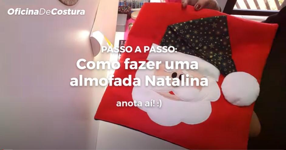 Parceria GAIA xBGR - Capa de Almofada papai Noel